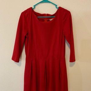 Red dress Banana Republic